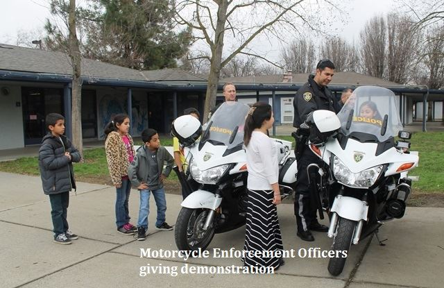Motorcycle Enforcement Officers giving demonstration