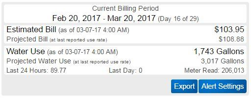 Water Bill Example