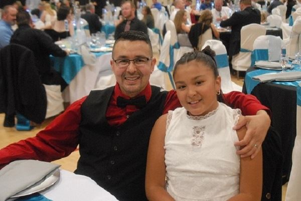 Dad and daughter at Father Daughter Dinner Dance