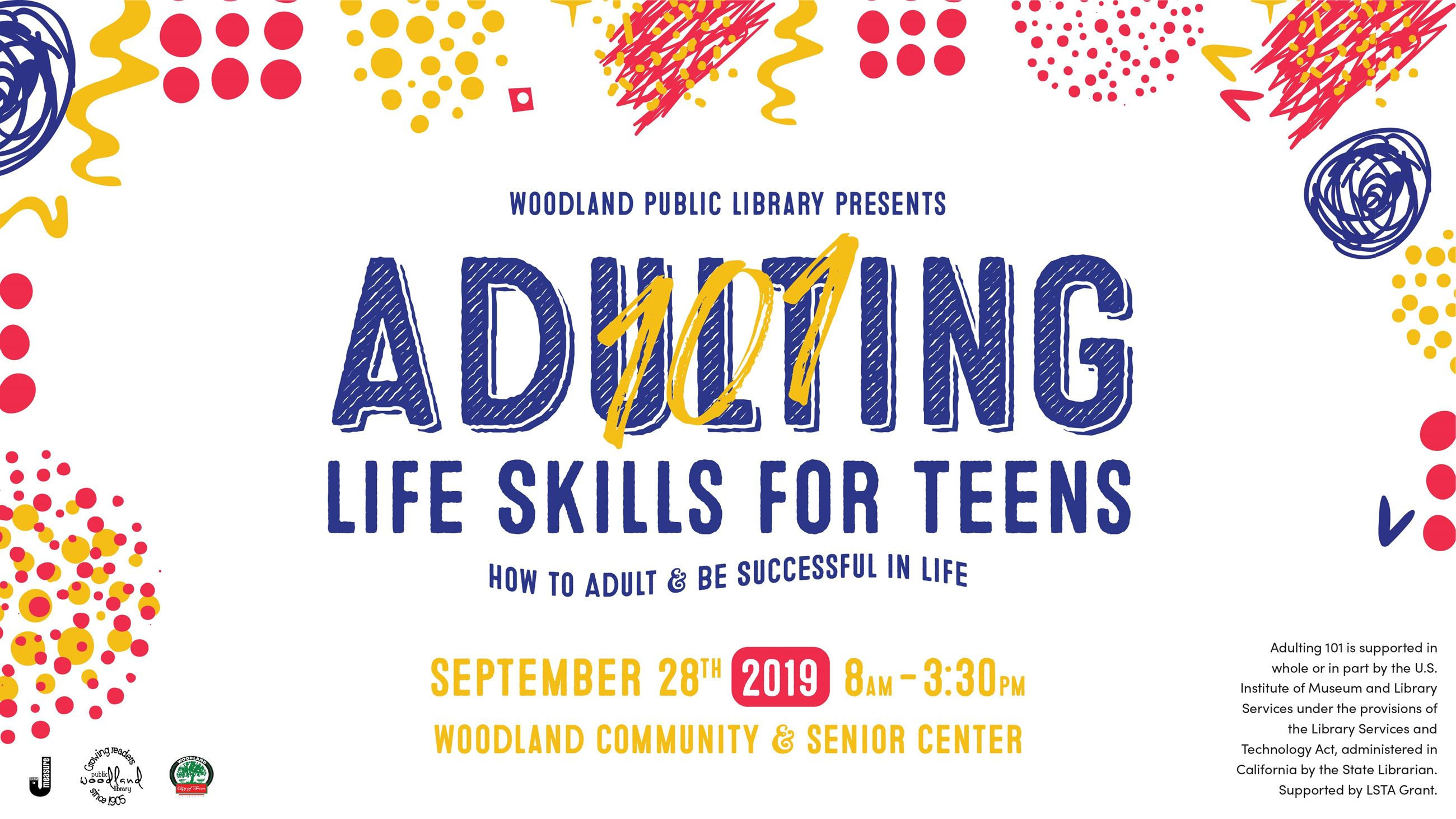 Adulting 101: Life Skills for Teens flyer