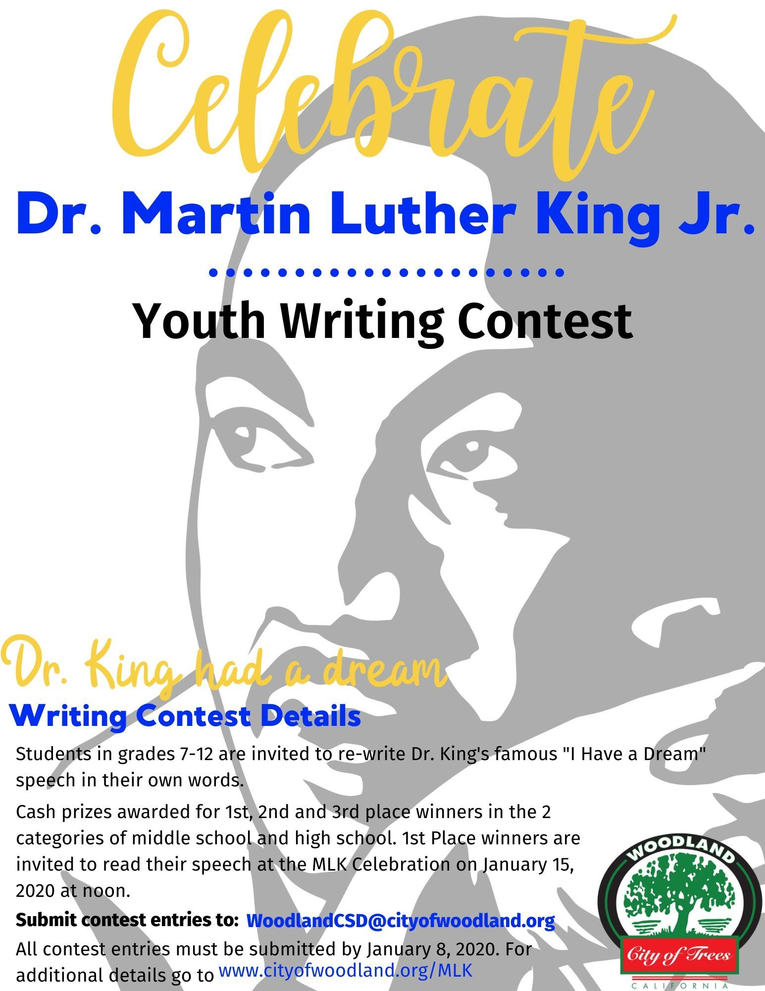 MLK writing contest flyer