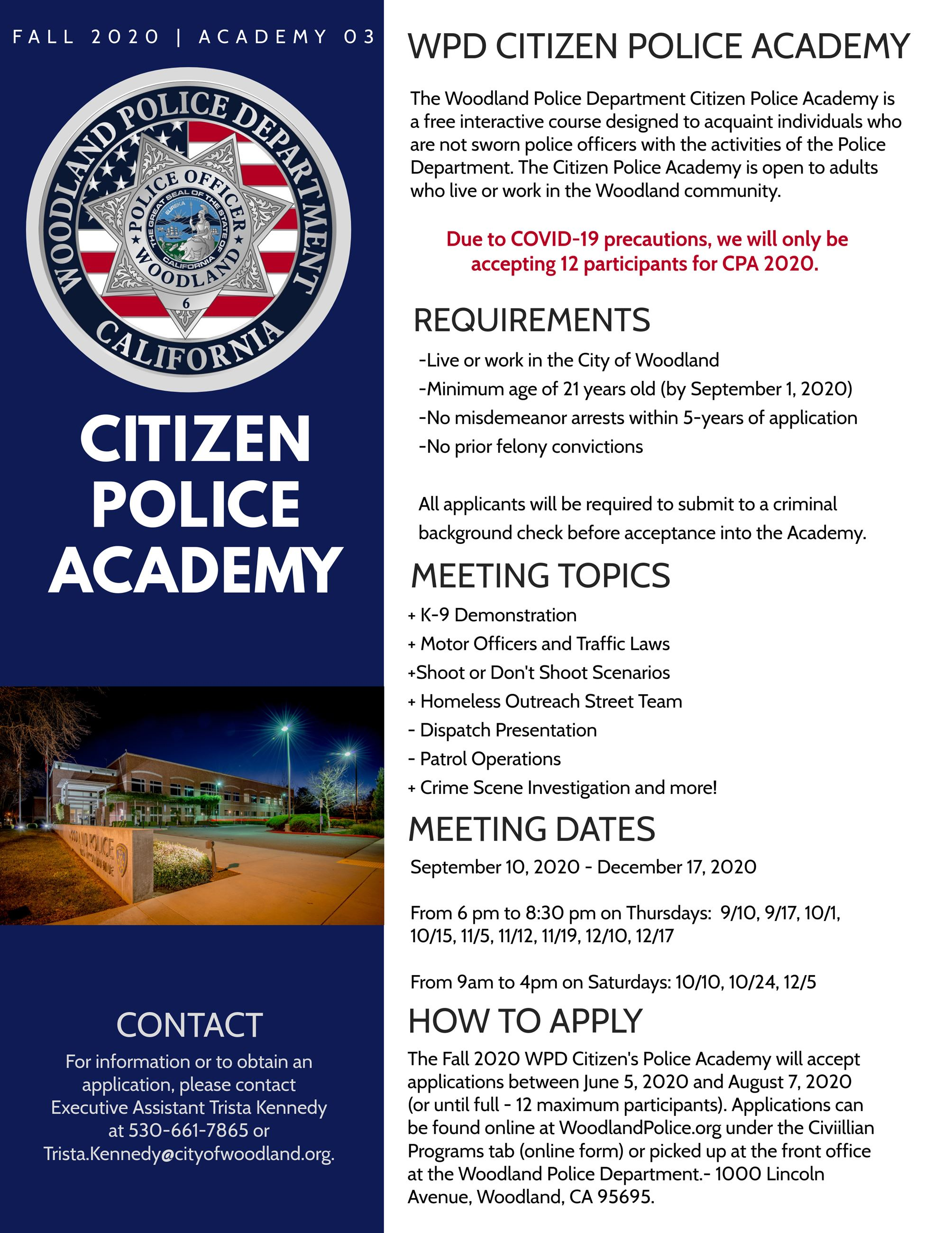 Citizens Police Academy 2020